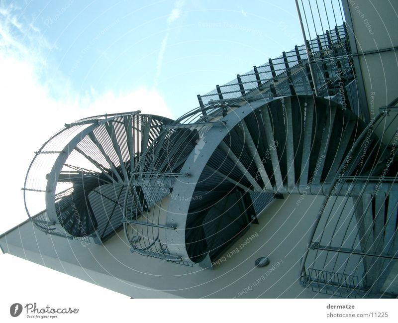 Wendeltreppe Gebäude Fassade Gitter Architektur Treppe