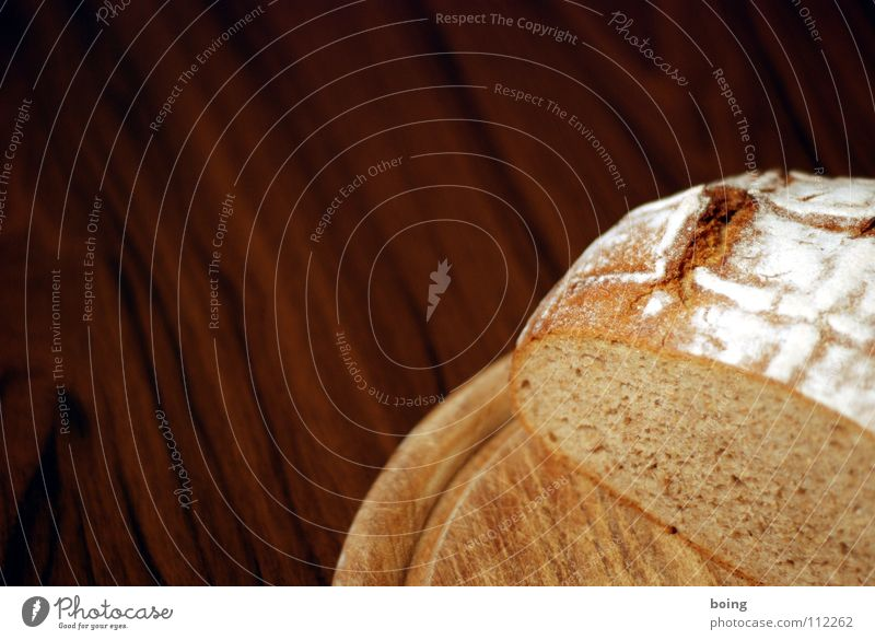 Brot Erde Kraft frisch Ernährung Tisch Appetit & Hunger Frühstück Abendessen Anschnitt Haushalt Backwaren Weizen Teigwaren Schneidebrett
