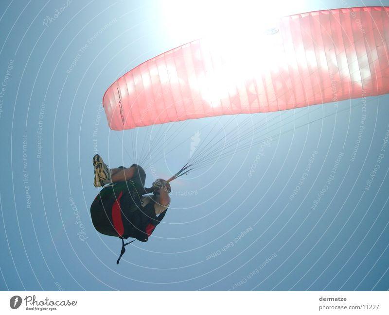 Sunflight Sonne fliegen Gleitschirmfliegen Fallschirm Gleitschirm Sport Extremsport