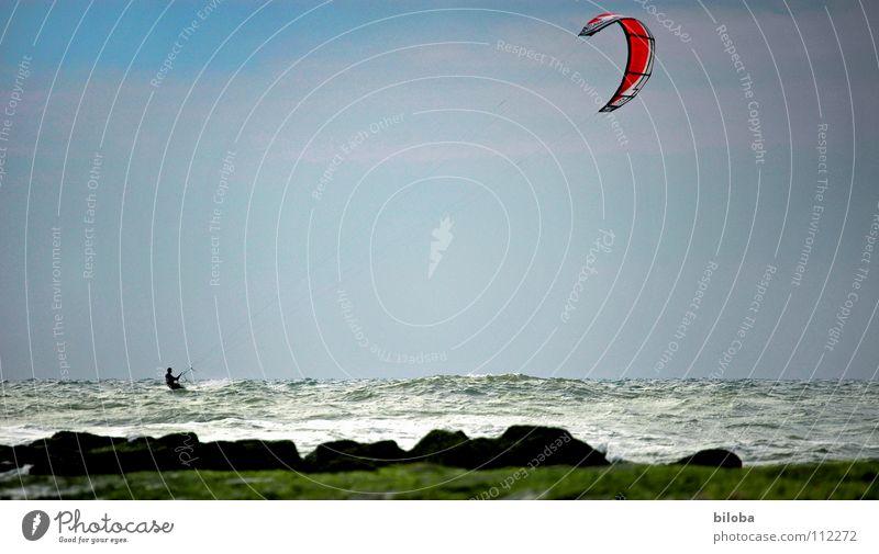 Kiten an der Nordsee Ferien & Urlaub & Reisen Meer Strand Freude Sport Spielen Küste Wetter Wind Freizeit & Hobby Abenteuer Geschwindigkeit Europa Segeln