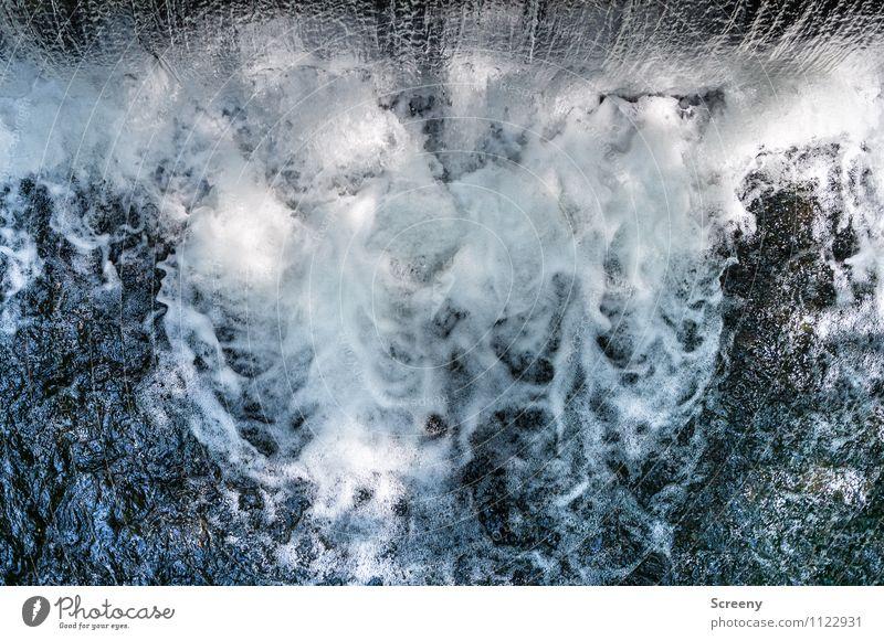 Wasser Fall Natur Bewegung Kraft Wellen nass fallen Fluss Wasserfall spritzig
