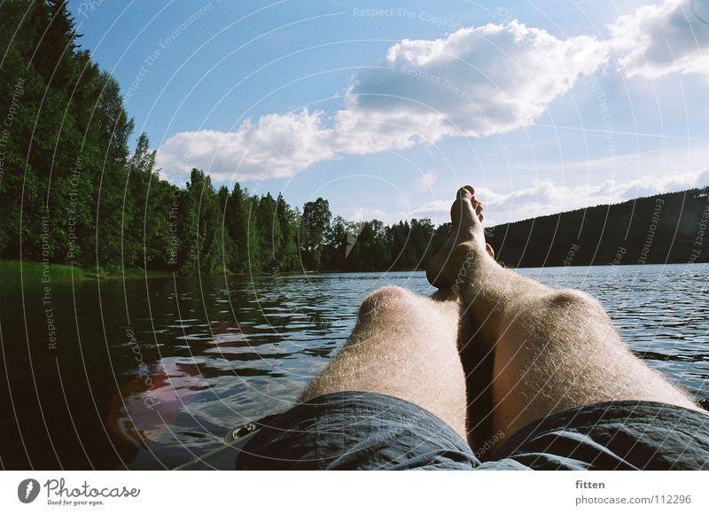 Klarälven Wasser Sonne Sommer Erholung Beine Fluss gemütlich Schweden