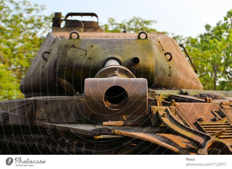 Panzer der US-Armee im Vietnamkrieg im Einsatz Wolken Verkehr Fahrzeug Aggression grün Schutz Ferien & Urlaub & Reisen Krieg Tank Militär Konflikt Gefahr wüst