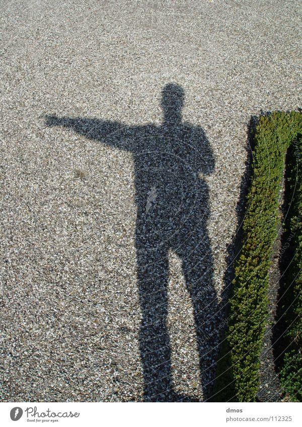 Left Spielen Richtung links rechts Osten Licht Kies gestikulieren grau grün Piktogramm stehen Himmelskörper & Weltall Schatten Arme Weste Wege & Pfade zeigen