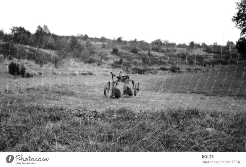 The old plow ruhig Feld Technik & Technologie Schrott Elektrisches Gerät Pflug