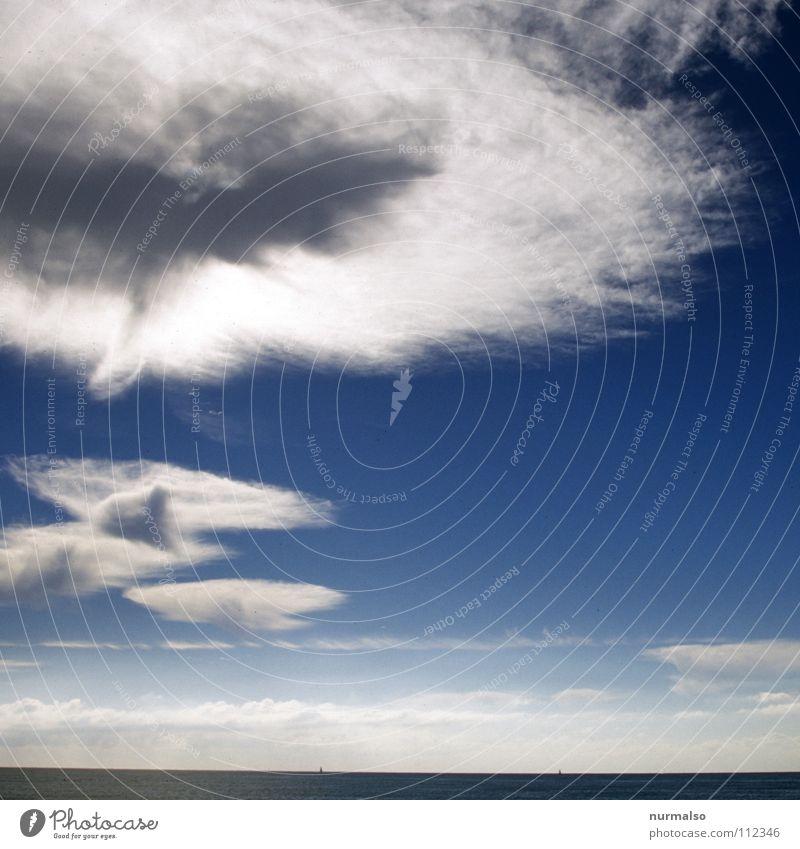 Guter Morgen VIII Himmel Natur blau Sommer Meer Freude Strand Wolken Stimmung Horizont Wasserfahrzeug Wellen hoch frei Perspektive Unendlichkeit