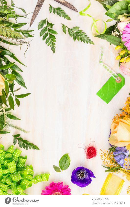 Blumenstrauß basteln Pflanze weiß Sommer Blume Blatt Freude gelb Leben Innenarchitektur Stil Holz Feste & Feiern Garten rosa Freizeit & Hobby Design