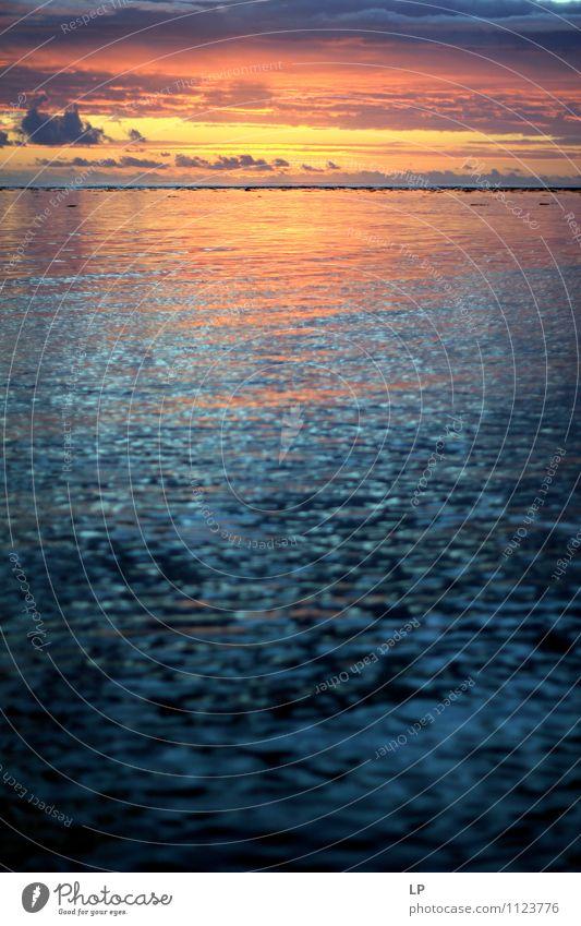 r2 Urelemente Luft Wasser Himmel Wolken Horizont Meer Indischer Ozean Ferne Flüssigkeit glänzend groß blau gelb gold orange silber türkis Warmherzigkeit