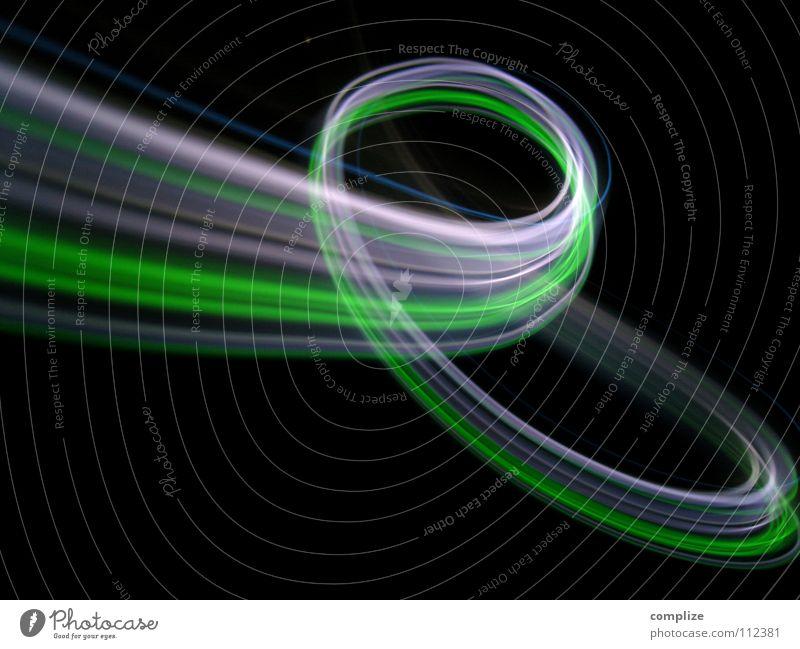 Der flotte Frosch mit weissen Locken! blau grün weiß Farbe rot schwarz Beleuchtung Lampe hell Hintergrundbild Kunst Musik glänzend Verkehr Geschwindigkeit