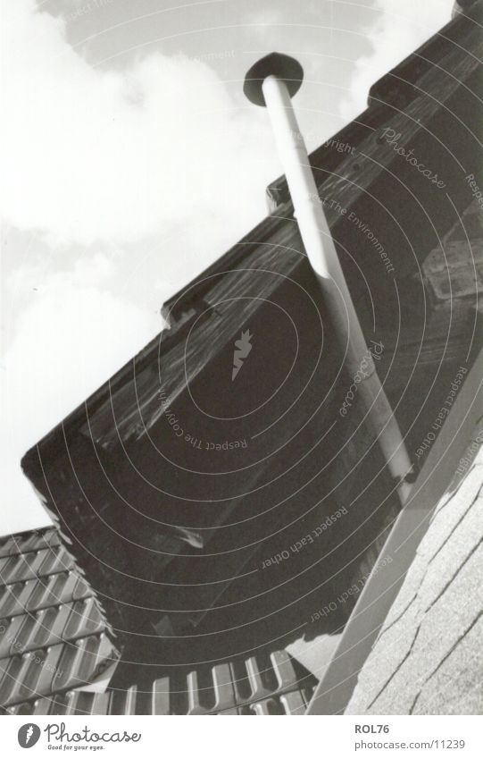 Abgas Himmel Architektur Dach Röhren