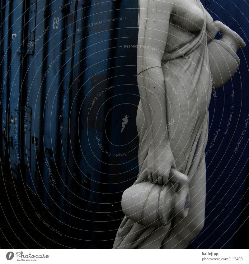 helena von unten Frau blau alt Hand weiß Haus feminin Wand nackt Haare & Frisuren Garten Kunst Körper gehen Arme Schriftzeichen