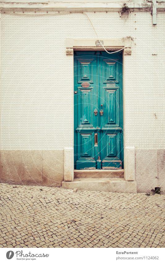 porta Ferien & Urlaub & Reisen Stadt grün Erholung ruhig Haus Wand Architektur Wege & Pfade Gebäude Mauer grau Stein Linie Fassade Treppe