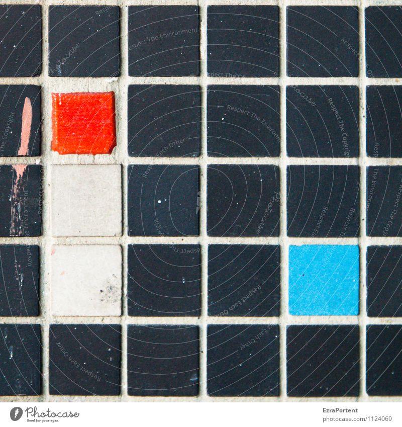 paint it black blau Farbe weiß rot Haus schwarz Wand Gebäude Mauer Spielen außergewöhnlich Stein Linie Fassade Design Zeichen