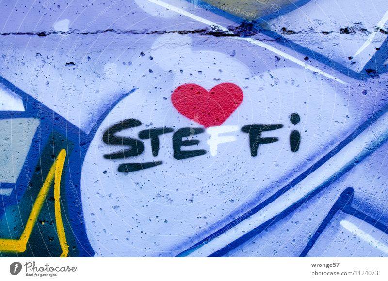 STEFFI Stadt Wand Graffiti Liebe Mauer Schriftzeichen Herz Romantik Verliebtheit Betonmauer Name