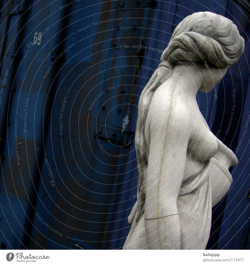 helena von oben Frau blau alt Hand weiß Haus feminin Wand nackt Haare & Frisuren Garten Körper gehen Arme Schriftzeichen Dekoration & Verzierung