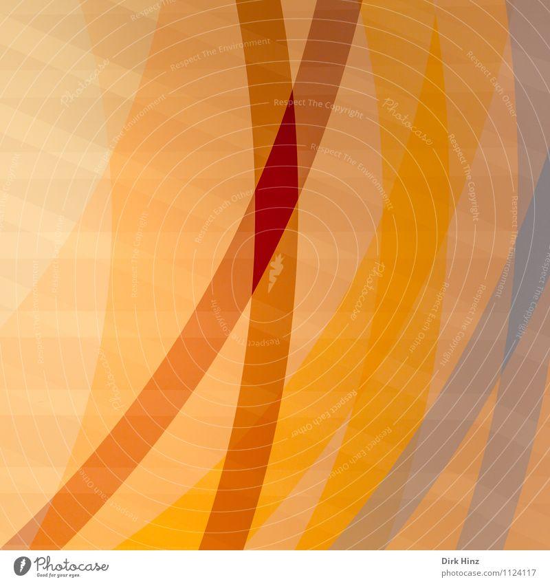 Crosslines blau rot gelb Wand Innenarchitektur Wege & Pfade Stil Mauer Linie Kunst Lifestyle Fassade orange Design Ordnung Dekoration & Verzierung