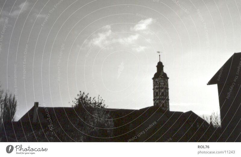 Silhouette Himmel Architektur Dach