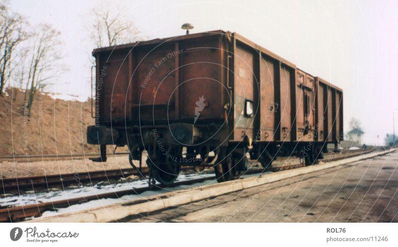 Abstellgleis Stahl Gleise Eisenbahn Wagon Bahnhof