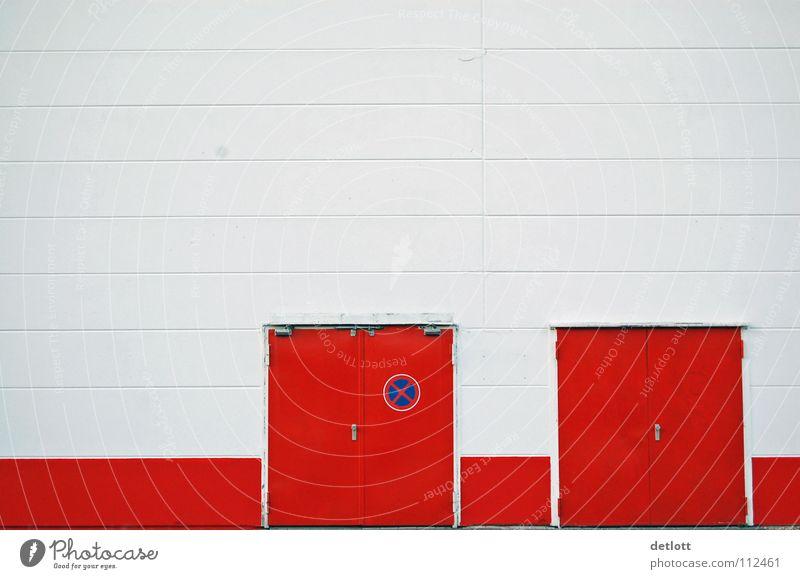 Optional weiß rot Haus Farbe Wand Linie Tür Fassade geschlossen Tor Eingang Ausgang Grafische Darstellung sehr wenige Balken Diagramm