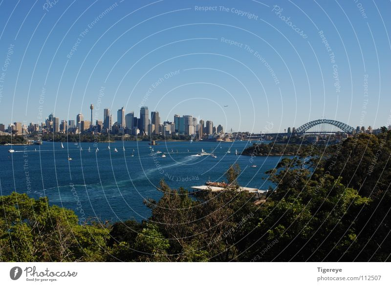 Skyline of Sydney Harbour Bridge Meer Stadt Opernhaus Landschaft Hafen Brücke