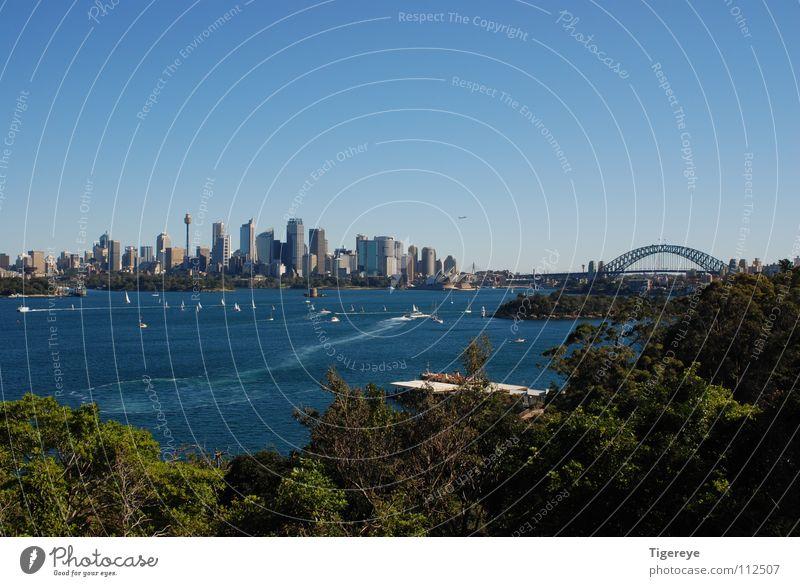 Skyline of Sydney Meer Stadt Landschaft Brücke Hafen Skyline Opernhaus Australien Sydney Harbour Bridge