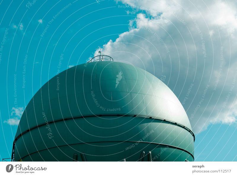 Gastank Umwelt Architektur Energiewirtschaft Technik & Technologie Industrie Bauwerk Kugel Konstruktion Lager Umweltschutz ökologisch industriell Benzin