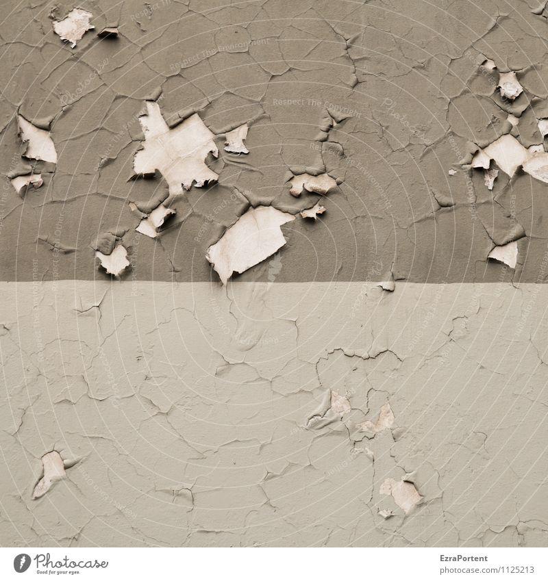 Kraft| sich wieder zu lösen Beton Linie alt dreckig grau Design Farbe abblättern Trennung Wand Fassade Anstrich Farbfoto Gedeckte Farben Außenaufnahme abstrakt