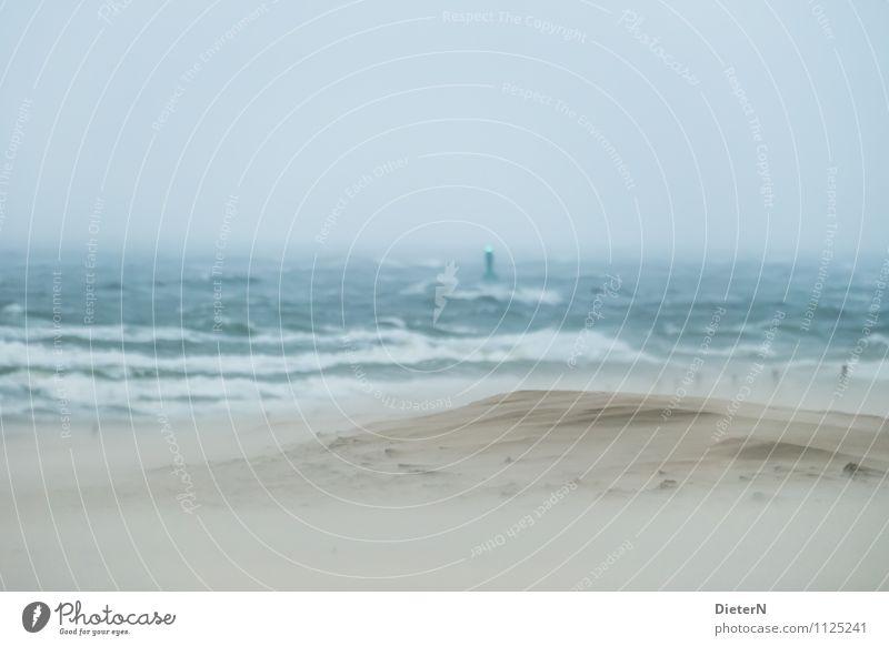 12 Beaufort Himmel blau grün Wasser Meer Umwelt Leben Küste braun Sand Horizont Regen Wetter Luft Wellen Wind