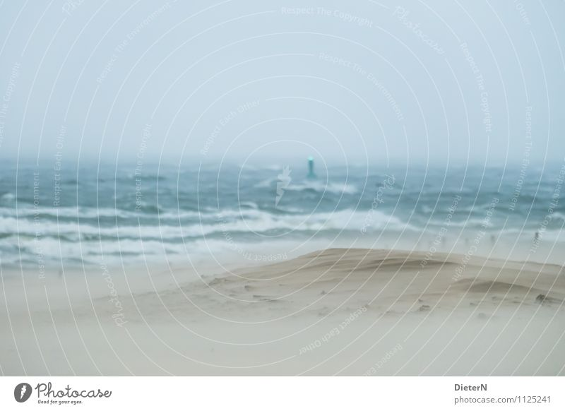 12 Beaufort Umwelt Urelemente Sand Luft Wasser Himmel Horizont Klima Wetter schlechtes Wetter Unwetter Wind Sturm Regen Wellen Küste Ostsee Meer blau braun grün