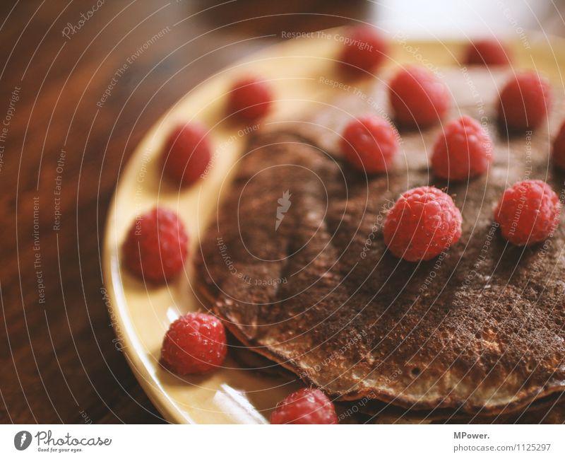 eierkuchen Lebensmittel Ernährung Essen Frühstück Vegetarische Ernährung gut Pfannkuchen Himbeeren lecker Gesundheit Gesunde Ernährung süß Farbfoto Nahaufnahme