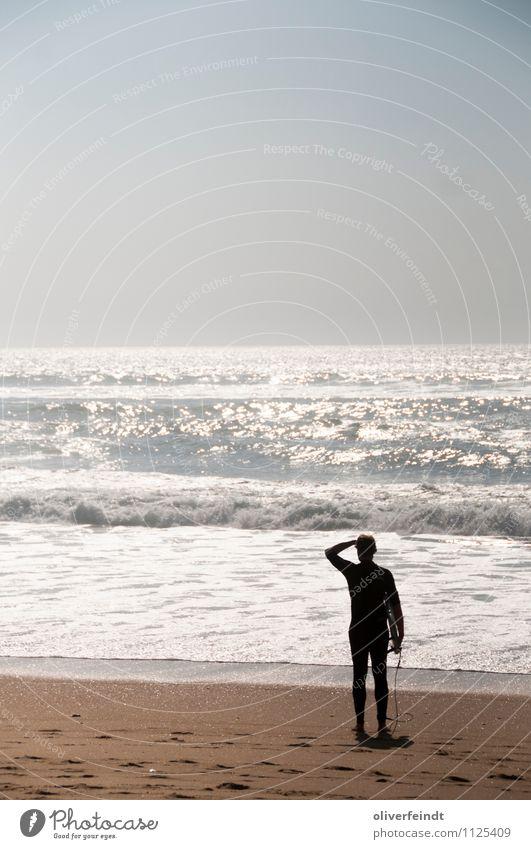 Surfen II Natur Ferien & Urlaub & Reisen Wasser Sommer Sonne Meer Ferne Umwelt Küste Sport Freiheit Horizont maskulin Freizeit & Hobby Wellen Schönes Wetter
