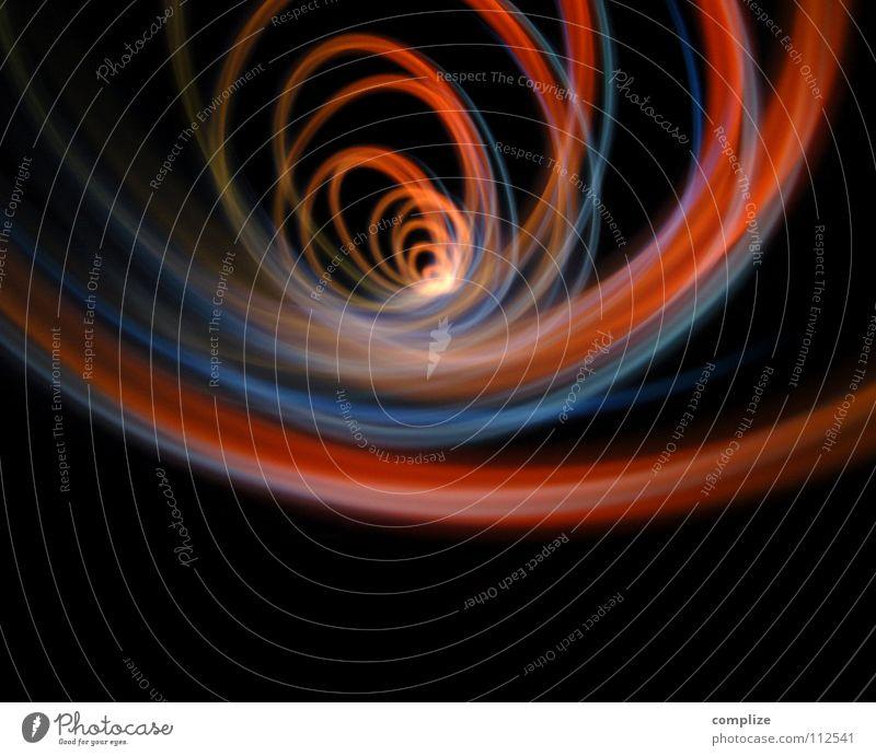 Ey Dieder, macht doch keinen Wirbel! Farbe rot Lampe Kunst Verkehr Geschwindigkeit Zukunft Technik & Technologie Kabel Weltall Kontakt Internet Medien