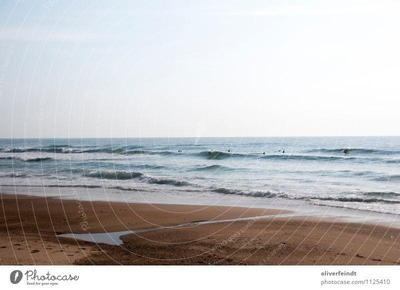 Surfen I Freizeit & Hobby Ferien & Urlaub & Reisen Ausflug Ferne Freiheit Sommer Sommerurlaub Strand Meer Wellen Sport Wassersport Natur Wolkenloser Himmel