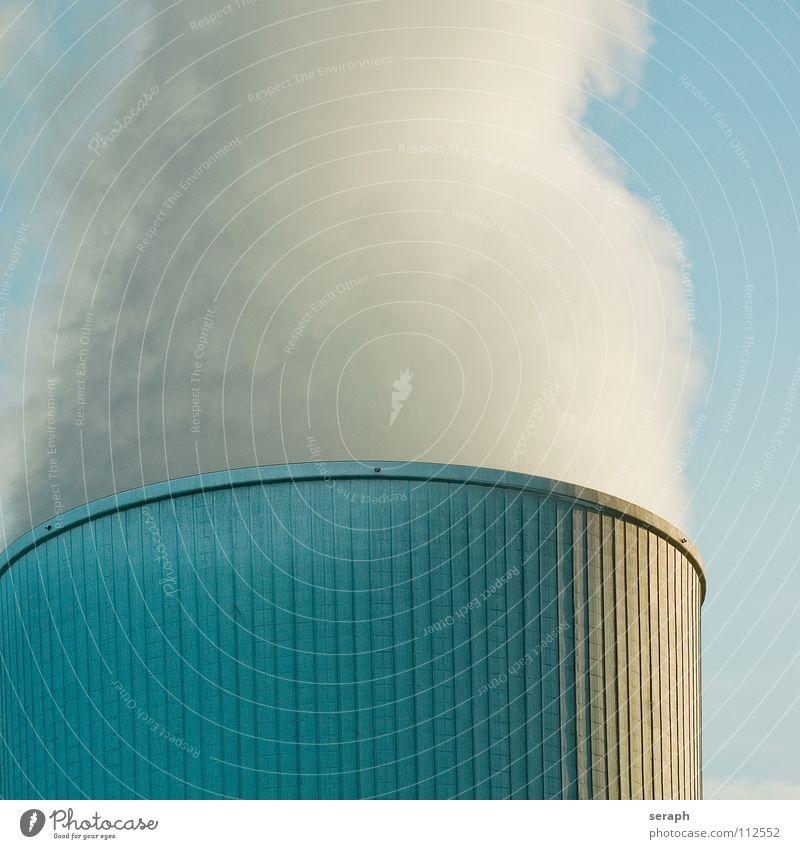 Kühlturm Himmel Wolken Umwelt Architektur Energiewirtschaft dreckig Elektrizität Technik & Technologie Turm Industrie Bauwerk Rauch Konstruktion Umweltschutz