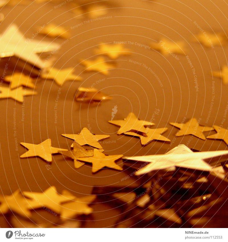 WeihnachtsSterne II Weihnachten & Advent Weihnachtsstern Dekoration & Verzierung gelb rot braun bräunlich eckig Kunststoff Glamour glänzend Stimmung Quadrat