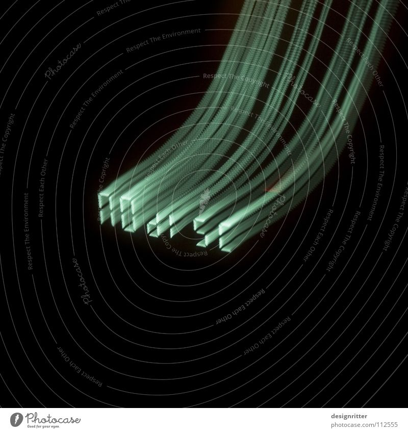 Stille Landung Streifen Licht erleuchten TFT-Bildschirm DVD-ROM Konservendose liegen vergangen Feierabend fertig Musik Langzeitbelichtung Lampe Beleuchtung