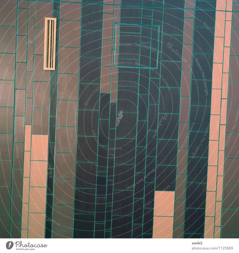 Anpassung Kunst Kunstwerk Stein eckig einfach orange rosa schwarz türkis Design Rätsel Stil Linie parallel Quader Rechteck Ordnung Präzision Störenfried