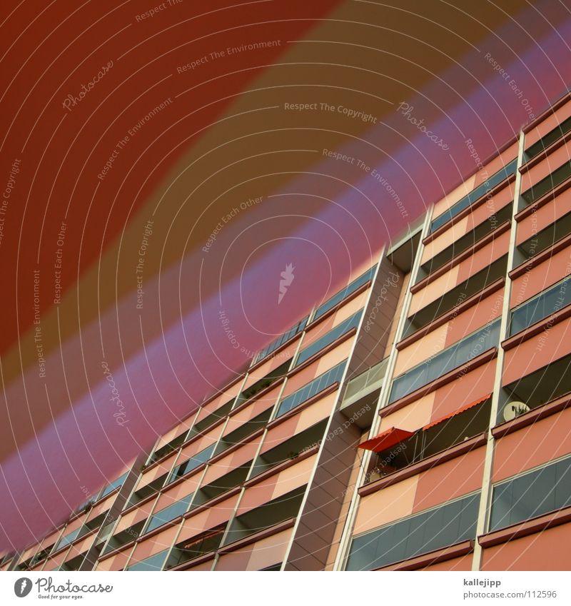 plattenteller Himmel Haus Farbe Wand Fenster Architektur Raum rosa leer Ecke Häusliches Leben Bauernhof Aussicht Grenze Verfall Rahmen
