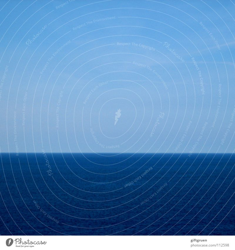 fifty-fifty oder: halbe sachen Wasser Himmel Meer blau Sommer Horizont Streifen Schönes Wetter gestreift minimalistisch