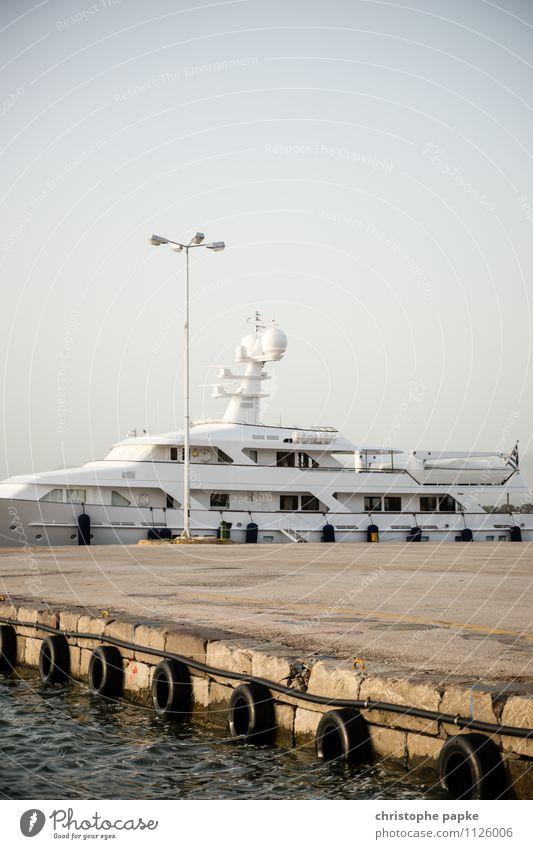 Sail away Ferien & Urlaub & Reisen Sommer Meer Lifestyle Freizeit & Hobby Hafen Wolkenloser Himmel Schifffahrt Sommerurlaub Reichtum Anlegestelle Hafenstadt
