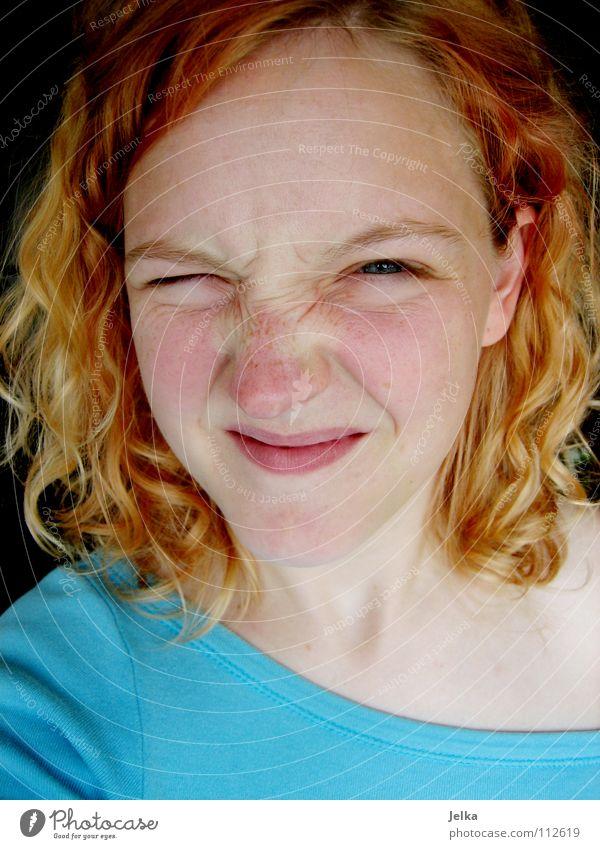 weißte was? Mensch Frau Gesicht Erwachsene Auge Haare & Frisuren Stimmung blond Mund Nase Locken Gesichtsausdruck blenden lockig