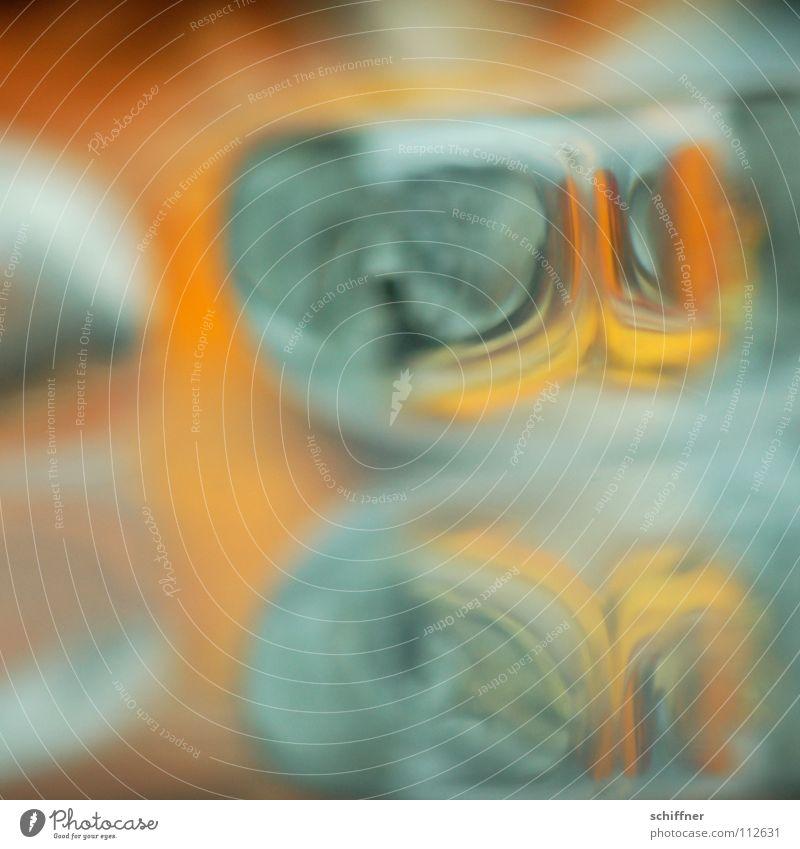Orange on the Rocks Eis orange Kunst Hintergrundbild Dekoration & Verzierung Spiegel türkis fließen Verlauf Eiswürfel durchscheinend Leuchttisch