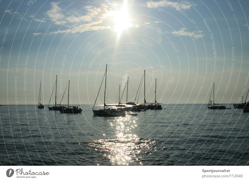 sun is shining Wasser Himmel Sonne Meer Sommer Ferien & Urlaub & Reisen Wasserfahrzeug Horizont Segelboot Kroatien Rovinj
