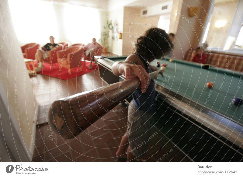 Billard Spielen Tisch Freizeit & Hobby Kugel Publikum Sardinien Italien