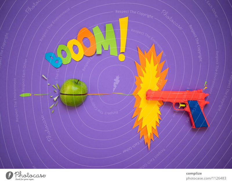 der Apfel grün Freude Graffiti Stil Spielen Essen Gesundheit Lebensmittel Frucht Design verrückt Ernährung Kreativität Papier einzigartig Zeichen
