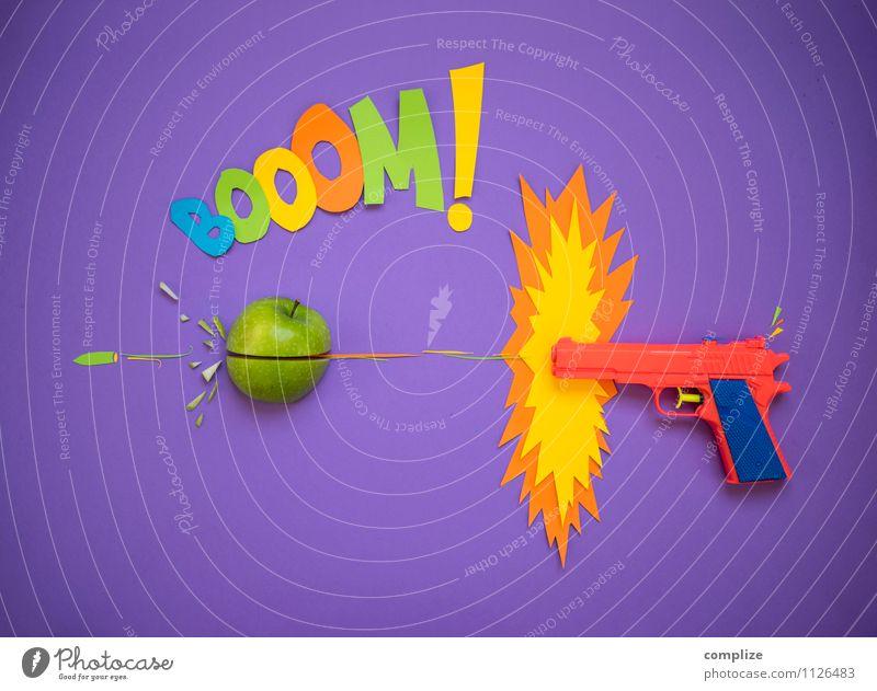 der Apfel Lebensmittel Frucht Ernährung Bioprodukte Vegetarische Ernährung Stil Design Freude Gesundheit Spielen Essen Zeichen Graffiti trendy retro verrückt