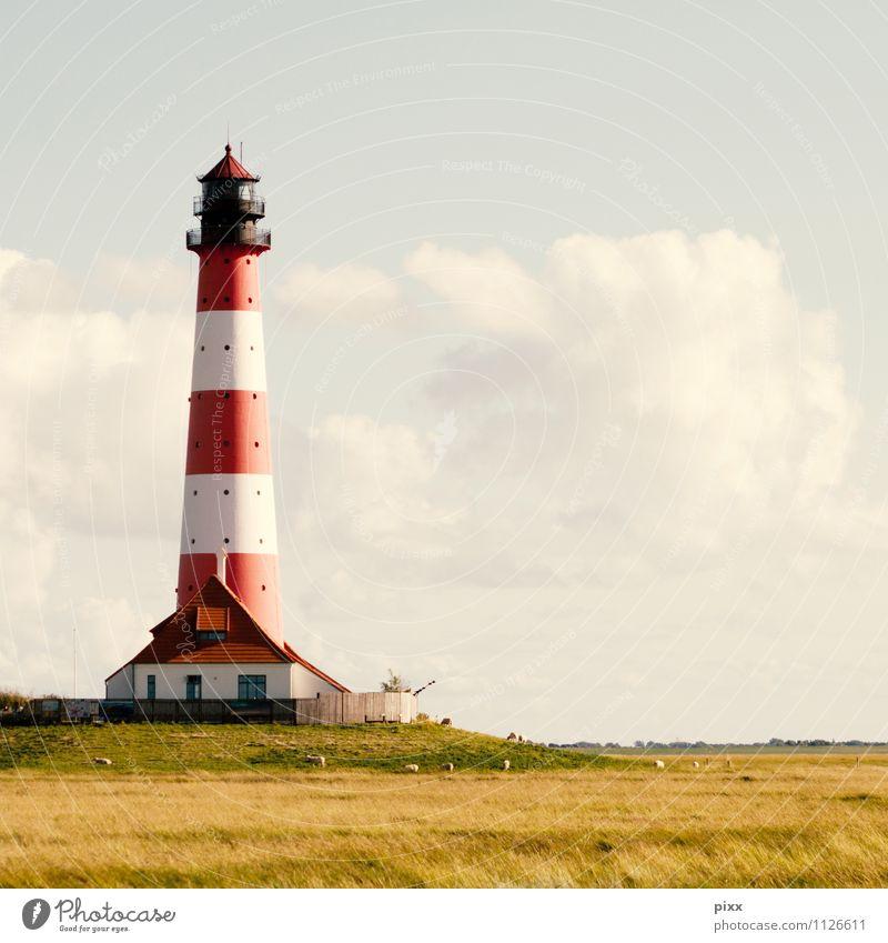 ringelpin Natur Ferien & Urlaub & Reisen rot ruhig Wolken Haus Umwelt Gras Küste Freiheit Feld Tourismus frei hoch Ausflug Kommunizieren