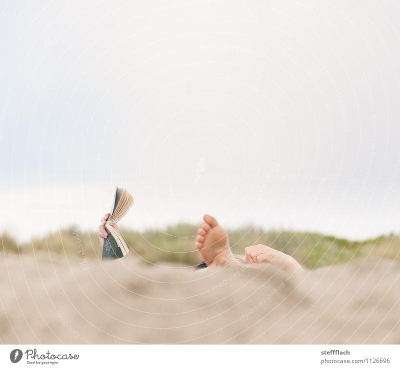 Lese Urlaub Mensch Frau Himmel Ferien & Urlaub & Reisen Jugendliche blau Sommer Erholung Landschaft 18-30 Jahre Strand Erwachsene feminin natürlich Küste braun