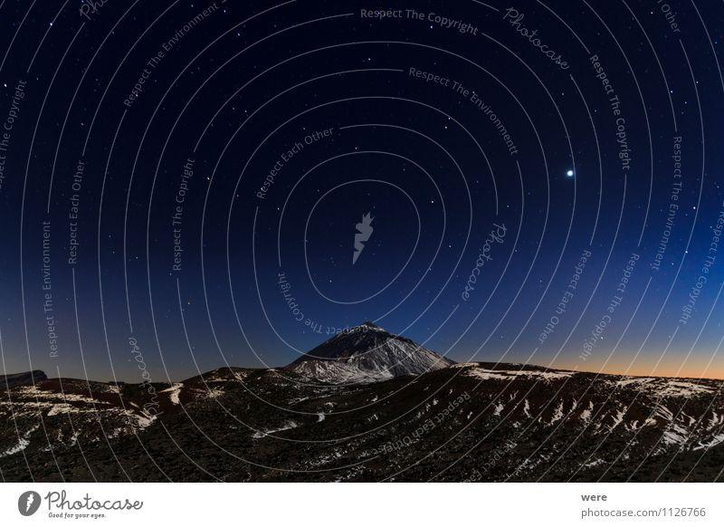 Teide Ferien & Urlaub & Reisen Tourismus Ausflug Abenteuer Ferne Freiheit Umwelt Natur Landschaft Himmel Nachthimmel Stern Sonnenaufgang Sonnenuntergang