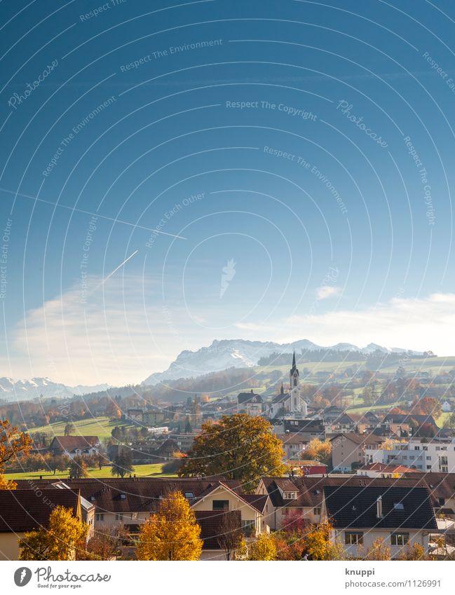 Nottwil Himmel Natur blau weiß Sonne Baum Landschaft Haus Umwelt Berge u. Gebirge Wärme Herbst Schnee Horizont orange Luft